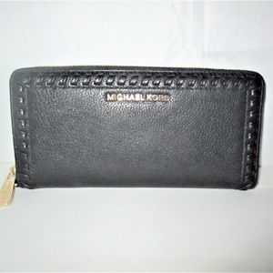 Michael Kors Lauryn  Whipstitch  Leather Wallet